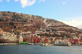 Bergen from sea level