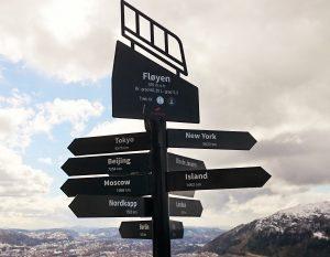Floyen signpost